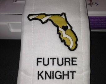 Future UCF Knight, Central Florida Burp Cloth