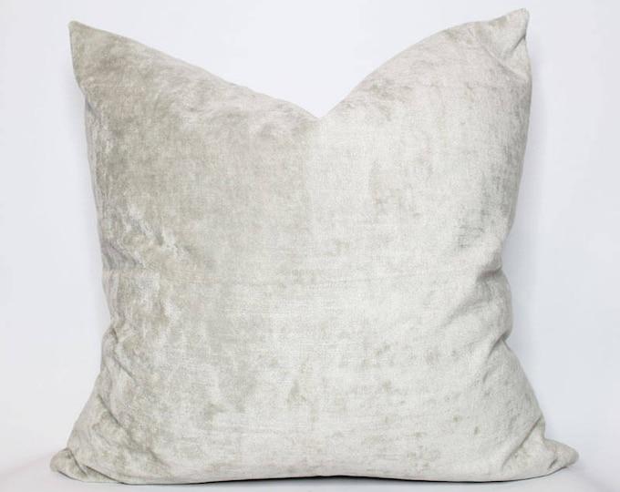 ultra luxe gray velvet pillow