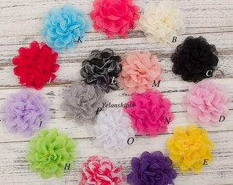 """4.1"""" Shabby Lace Mesh Chiffon Flower For Baby Girls Hair Accessories Artificial Fabric Flowers For Headbands For Hair Clips"""