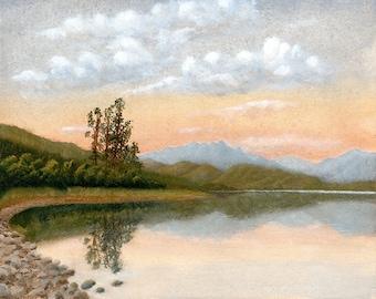 Fine art print, art print, painting, landscape, oil painting, reproduction, giclee