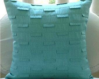 Blue Ocean - Pillow Sham Covers - 24x24 Inches Silk Pillow Sham Cover in Sea Blue