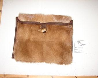 BAG-10E Genuine BROWN MINK Fur Ipad Kindle EReader Sleeve Cover Cozy