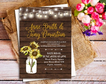 Anniversary party invitation Vow renewal invite We still do