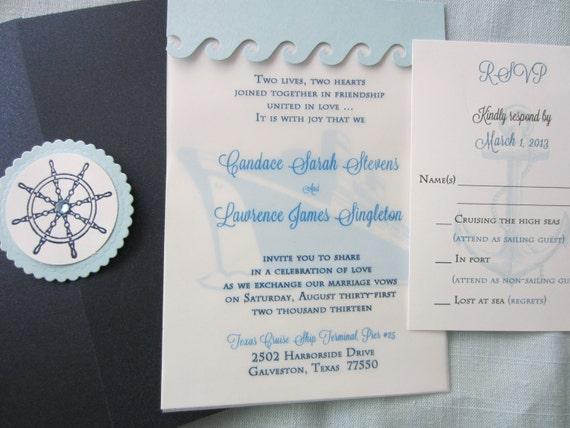Cruise Wedding Destination Wedding Invitation Cruise Ship