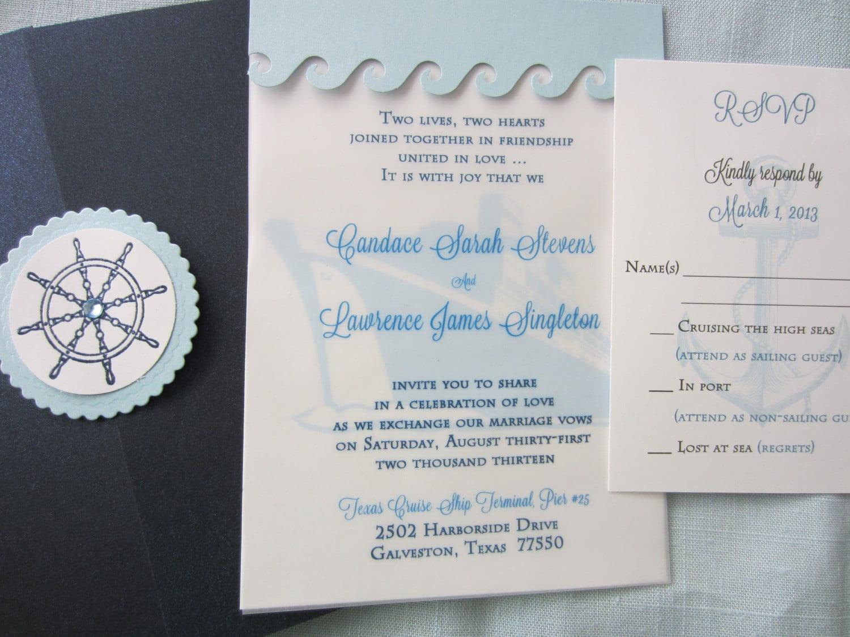 Cruise Wedding Invitations: Cruise Wedding Destination Wedding Invitation Cruise Ship
