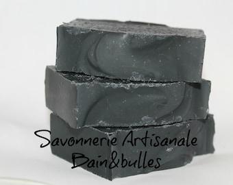 Savon à la soie Le charbonnier, charbon activé, activated charcoal, peau grasse, acné