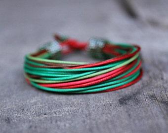Multicolor African Bracelet, Multi Strand Bracelet, Colorful Bracelet, Ethnic Jewelry Gift for Girlfriend Designer Bracelet, Summer Bracelet
