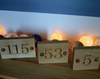 House Number Sign, Man Cave,  Number Sign, Oak House Number, Wooden House Number, House Warming Gift, Solid Oak Sign, House Sign