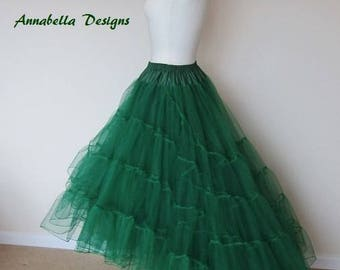 3 layer petticoat short with train at back