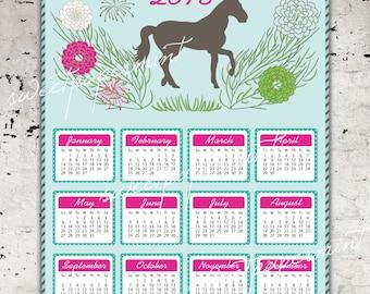 2018 Equestrian Calendar printable