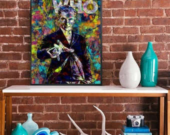 Dr Who 12th doctor peter capaldi art poster watercolour movie poster