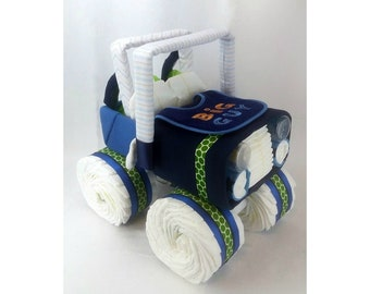 Diaper Jeep - Unique Baby Gift - Diaper Cake - Baby Shower Centerpiece - Baby Shower Gift - One Of a Kind Gift for Baby