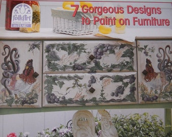 Folk Art Painting   on Furniture  How-To  Book Book