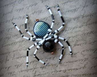 Black and White Spider  Suncatcher Ornament
