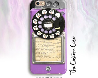 Retro Purple Payphone, Vintage Payphone Phone Case, Retro Purple Rotary Phone, Old Vintage Payphone, Hipster Payphone Case, Iphone, Samsung