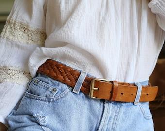 Braided Leather Belt 30 - 36