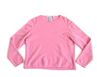 Vintage Pink Fuzzy Cashmere Womens  Sweater
