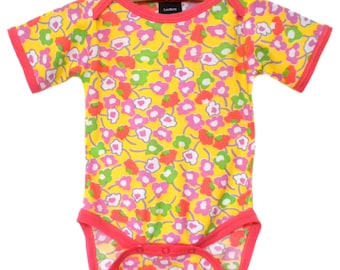 Vintage / Handmade / Bodysuit / pretty girl / baby clothes  - Sunny Side Up