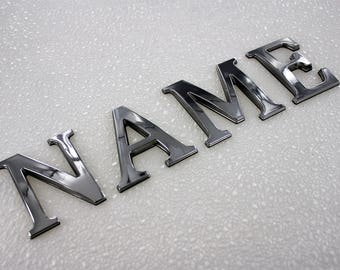 "Individual Letters and Digits 3"" Chrome Emblems Pontoon Style"
