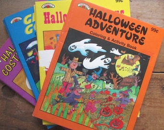 Halloween Coloring Book Vintage Activity Book 1991  Choose One