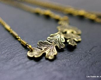 Bronze art deco pendant, leaf pendant