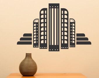 Art Deco Building ... Vinyl Wall Decal