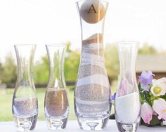 Rustic Personalized Glass Unity Wedding Sand Ceremony Set
