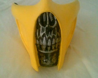 Mortal Kombat Scorpion mask costume prop.