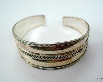 sterling silver bracelet bangle cuff traditional handmade jewelry