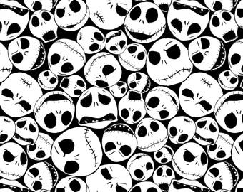 Springs Creative - Nightmare Before Christmas - Jack Skellington Faces - Fabric by the Yard
