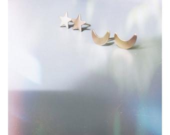 Stars and Moon Studs Earrings Set