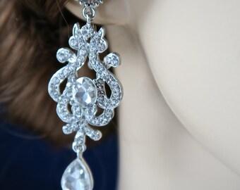 Swarovski Bridal Earrings,Chandelier Earrings,Crystal earrings, Wedding Jewelry,wedding earrings Crystal Wedding Earrings