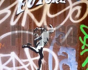 Photographed Street Art- Europe Graffiti City of the Future Print Fine Art Photography