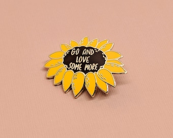 Sunflower Enamel Pin | Harold and Maude Inspired, Hard Enamel, Enamel Pin, Lapel Pin, Flair, Flower Pin, Gifts for Florist