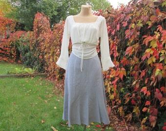Nice Gray Skirt / Skirt Vintage / Poly / Cotton / Size EUR44 / UK16