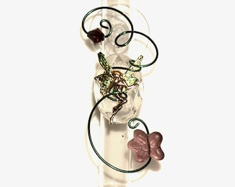 Fairy Glass Suction Vase  Test Tube Gardener Gift Garden Decor Fantasy Suction Window Flower Bud Hanging Vase 3 Inch Dorm Room Kitchen Bath