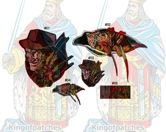 Freddy Krueger Embroidered Big or Small Patches Horror Movie A Nightmare on Elm Street vs Jason Claw Glove Dead Final Dream Warriors