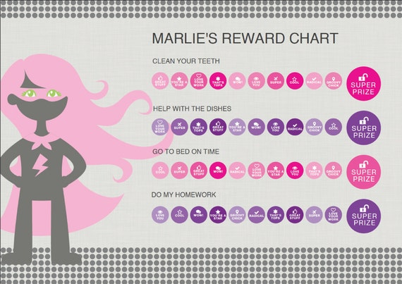 photo regarding Printable Rewards Charts named Printable Benefit Charts For Children 6 toward 12 Yrs Previous Increasing