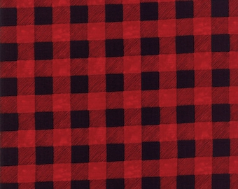 Christmas Fabric - Hearthside Holiday - Brushed Cotton - Buffalo plaid 19836 16B - Priced by the half yard