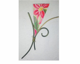 Flower, exotic flora and fauna handicrafts for home decor or a special gift