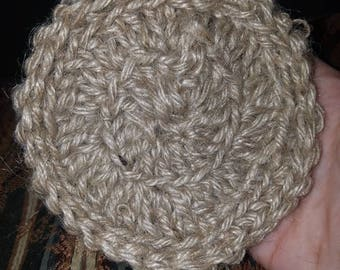 Crochet Hemp Scrub Pad