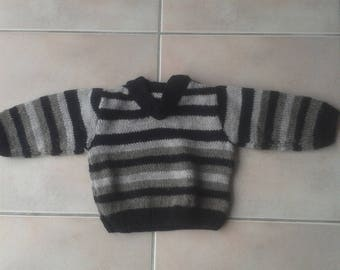 sweater striped three colors