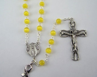 Gold Awareness Rosary