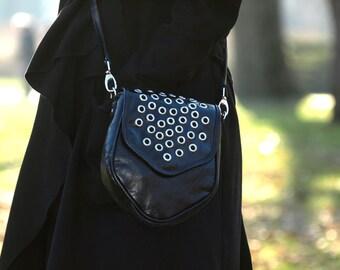 rocker, boho rebelias bag, handmade, unique, made of Italian leather