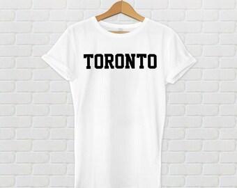Toronto Varsity Style T-Shirt - White