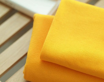 Solid Cotton Jersey or Ribbing Knit Fabric for Binding Necklines, Cuffs, Armholes - Yellow - By the Yard 38346