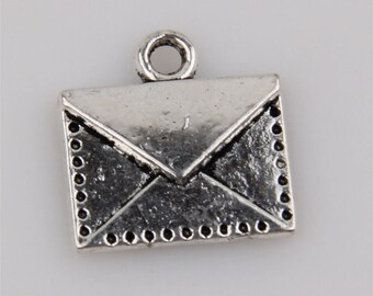 Envelope Charm Antique Silver 1pc
