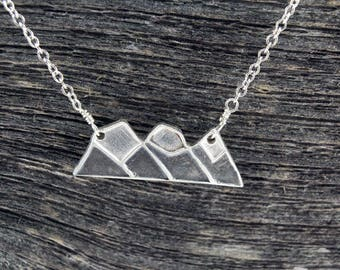 Sterling Silver Three Sisters Mountain Necklace