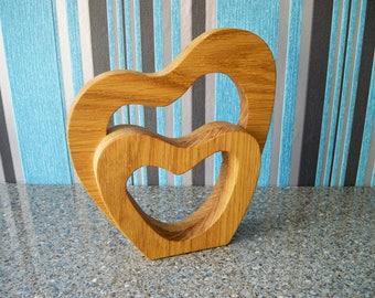 Handmade original wooden ornament