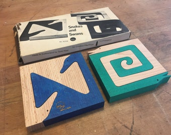Snakes and Swans by Fredun Shapur  for Spiel Naef / Creative Playthings